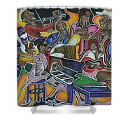 The Jazz Orchestra Shower Curtain