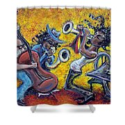 The Jazz Trio Shower Curtain