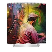 The Jazz Vipers In New Orleans 01 Shower Curtain