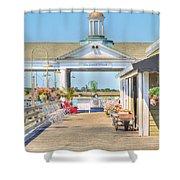 The Jekyll Wharf Shower Curtain