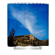 The Jet Strean Up At 10000 Ft Shower Curtain