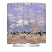 The Jetty At Deauville Shower Curtain