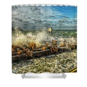 The Jetty Storm Shower Curtain