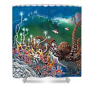 The Jeweled Octopus Shower Curtain