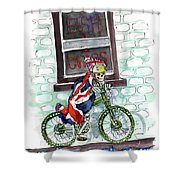 The Jolly Fryer In Ripon Shower Curtain