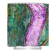 The Journey #57 One Day At A Time Shower Curtain