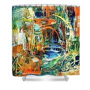 The Journey Inward Shower Curtain