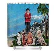 The Journey Of A Dog Trainer Shower Curtain
