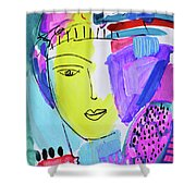 The Joy Of Contemplation And Color Shower Curtain