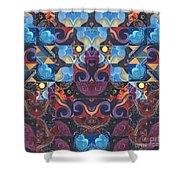 The Joy Of Design Mandala Series Puzzle 6 Arrangement 8 Shower Curtain