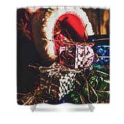 The Joy Of Giving On Christmas Shower Curtain