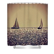 The Joy Of Sailing Shower Curtain