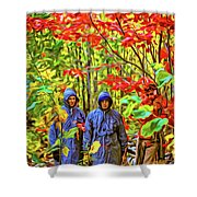 The Joys Of Autumn Camping - Paint Shower Curtain