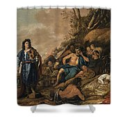 The Judgement Of Midas In The Contest Between Apollo And Pan Shower Curtain