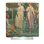 The Judgment Of Paris Shower Curtain