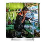 The Juice Man Shower Curtain