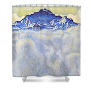 The Jung Frau Above A Sea Of Mist Shower Curtain