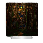 The Jungle Moon Shower Curtain