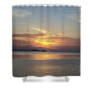 The Junk At Sunset Shower Curtain