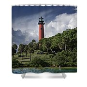 The Jupiter Inlet Lighthouse Shower Curtain