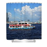 The Kaohsiung Harbor Ferry Crosses The Bay Shower Curtain