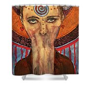 The Keeper Of Secrets Shower Curtain