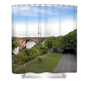 The Kelly Drive Rock Tunnel Shower Curtain