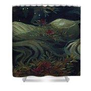 The Kelpie Pond Shower Curtain