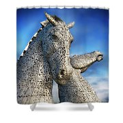The Kelpies No.3 Shower Curtain