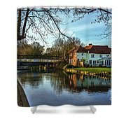 The Kennet And Avon Canal At Sulhamstead Shower Curtain
