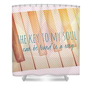 The Key To My Soul Shower Curtain