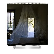 The Key West Bedroom Shower Curtain