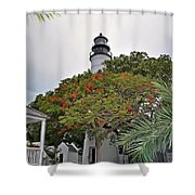 The Key West Lighthouse Shower Curtain