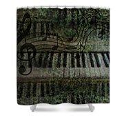 The Keyboard Shower Curtain