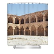 The Khan, Also Known As A Caravanserai, In Akko, Israel Shower Curtain