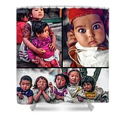 The Kids Of India Collage Shower Curtain