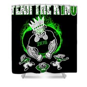 The King Is Here Shower Curtain