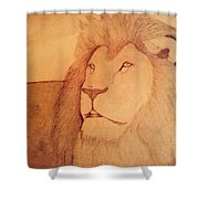 The King Lion Shower Curtain