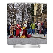 The Kings Of The Democracy. Prague Castle. Prague Spring 2017 Shower Curtain