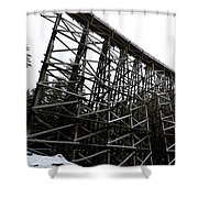 The Kinsol Trestle Panorama View On Snowy Day 1. Shower Curtain