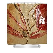the Kiss - tile 2 Shower Curtain