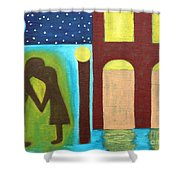 The Kiss Goodnight Shower Curtain