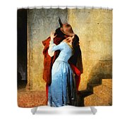 The Kiss Of Hayez Revisited Shower Curtain