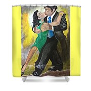 The Kiss Of Passion Shower Curtain by Mimi Eskenazi