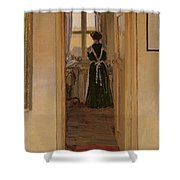 The Kitchen Shower Curtain by Harold Gilman