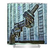 The Knotted Gun Shower Curtain