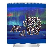 The Knotty Polar Bears Shower Curtain
