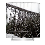 The  Koksilah River Trestle With Snow 1. Shower Curtain