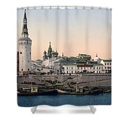 The Kremlin Towards The Place Rouge In Moscow - Russia - Ca 1900 Shower Curtain
