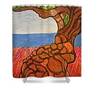 The Labor Day Hamptons Tree Shower Curtain